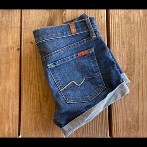 7 for all Mankind Jean Shorts Size 27